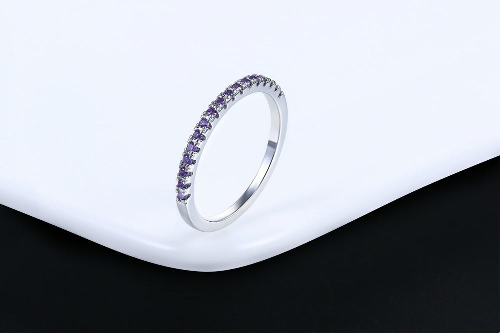Classical Multicolour Mini Cubic Zirconia Rose Gold Fashion Ring