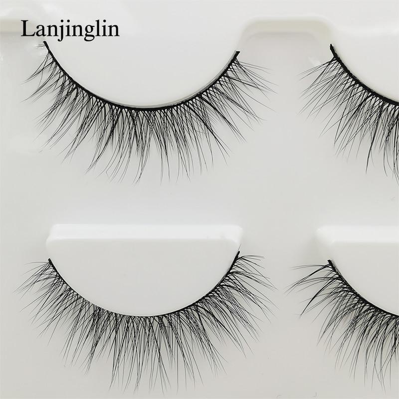 New 3 pairs natural false eyelashes fake lashes long makeup 3d mink lashes extension eyelash mink eyelashes for beauty #X11