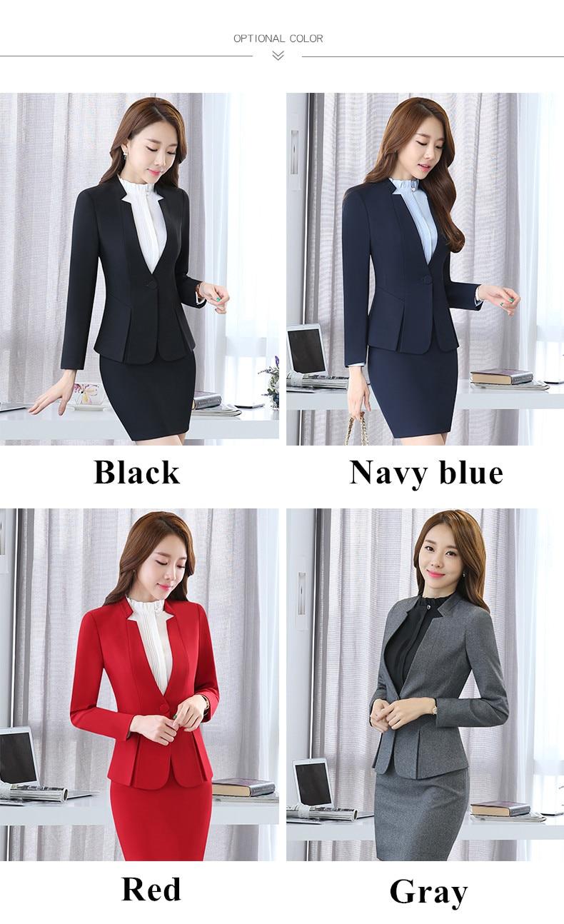 Business pants suits plus size for ladies long sleeve