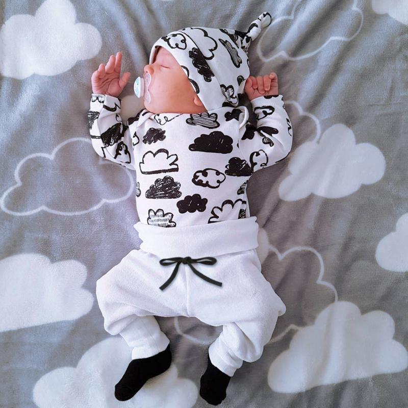 Sets Newborn Cotton Printed Long Sleeved