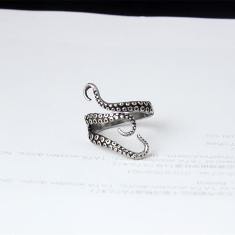 Octopus Style Irregular Pattern Trendy Ring